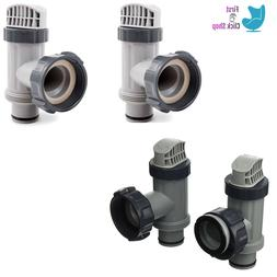 Intex 25010 Above Ground Plunger Valves with Gaskets and Nut