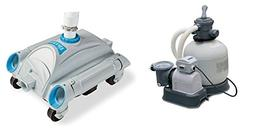 INTEX 3000 GPH Above Ground Pool Sand Pump and INTEX Automat