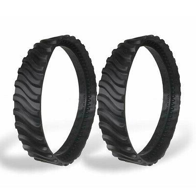 2pcs pool cleaner track tyres wheel replace