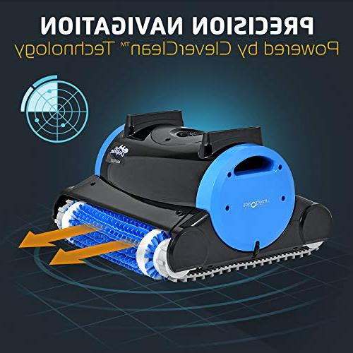 Dolphin Pool with Dual Filter Two Scrubbing Brushes and Cord, for Swimming Pools up to Feet