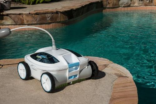 Aquabot ABREEZ4 with Scrubbers Robotic Pool Cleaner for Above-Ground In-Ground