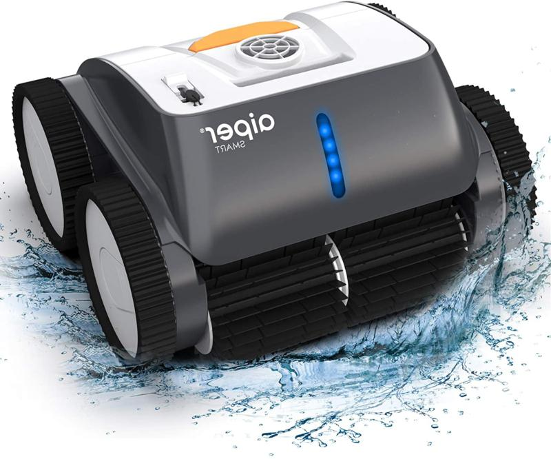 cordless robotic pool cleaner wall climbing triple