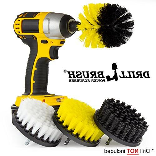 drill brush grill cleaner shower