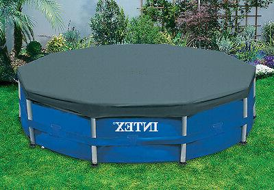 round metal frame pool cover