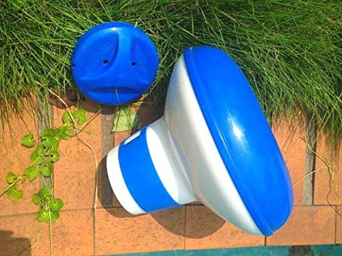 Summer and White Floating Pool Chlorine Dispenser, Maintenance Lawn & Garden, Supplies Tools