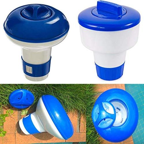 Summer Deluxe Large and White Floating Pool Dispenser, Maintenance Patio, & Garden, Tubs Supplies Cleaning