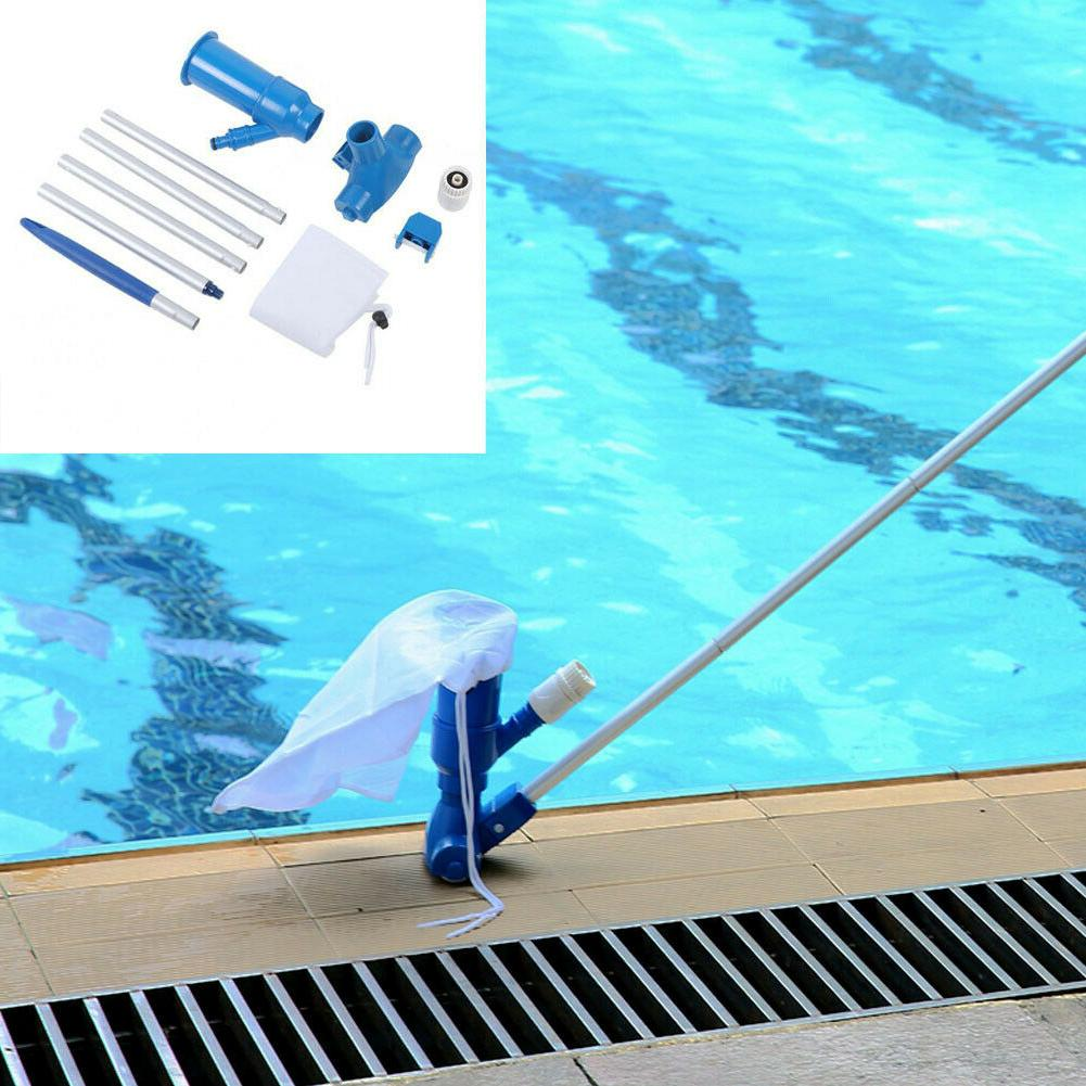 swimming pool vacuum cleaning tool set suction