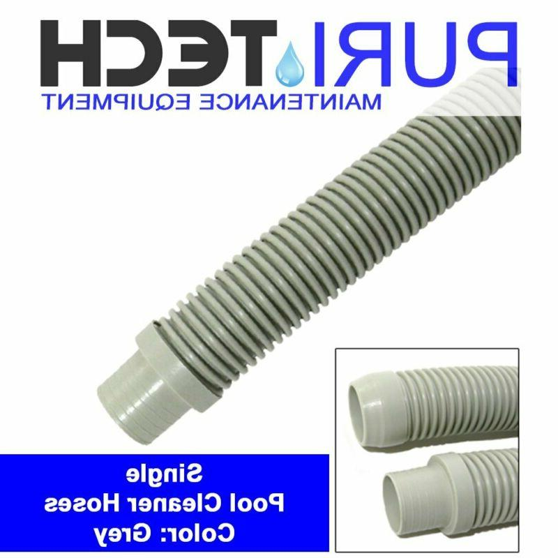 "Puri Tech Universal Pool Cleaner Hose 48"" Long Grey Color Fo"
