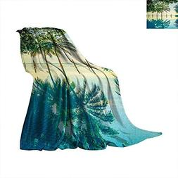 Landscape Weave Pattern Blanket Pool with Trees on The Surfa
