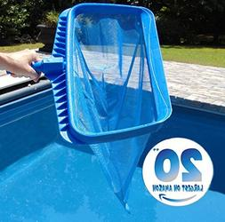 Pool Skimmer by SwimPur | Fine Mesh Net Leaf Cleaner | Extra