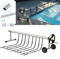 Stainless Steel Solar Cover Reel For Swimming Pools Up To 21