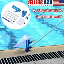 Swimming Pool & Spa Pond Fountain Vacuum Cleaner Brush Clean