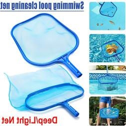 swimming pool deep leaf net cleaning skimmer